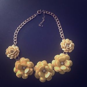 Jewelry - 4 for $25 Yellow Necklace perfect for a wedding!
